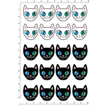 レジン封入.CAT.04-01.白.黒ねこ