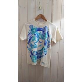 ユニセックスsサイズ☆ やっぱり大好き!お月さま 手描きTシャツ