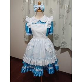 フリフリエプロン付きワンピースドレス