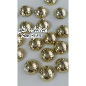 gold cabochon 16mm 8piece