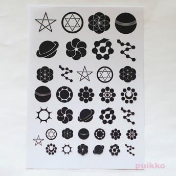 家紋・星 レジン封入用フィルム
