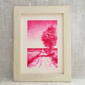 油絵フレーム付き Trail rose pink