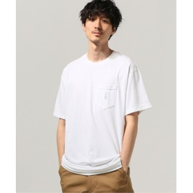 JOURNAL STANDARD LIXTICK Man In Question ポケット Tシャツ by S ホワイト M