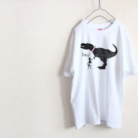 「お手」恐竜 Tシャツ(ハイグレード)