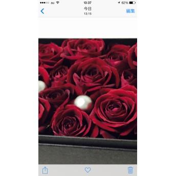 お得な2個セット【生花】大人シック 赤いバラのフラワーボックス 《お届け先同一住所》