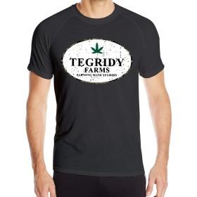 メンズTegridy農場 - Tegridy Tシャツ半袖クイックドライアスレチックティーを使った農業