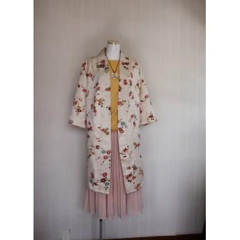 ロングカーディガン 着物リメイク服です 3