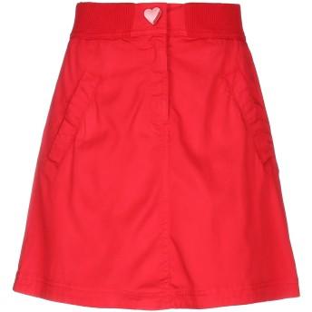 《セール開催中》LOVE MOSCHINO レディース ひざ丈スカート レッド 40 テンセル 63% / コットン 34% / ポリウレタン 3%