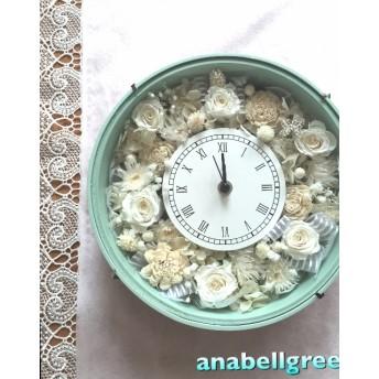 【新色】パステルグリーンの花時計(プリザーブド)