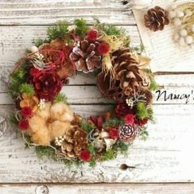 木の実たっぷりクリスマスリースM