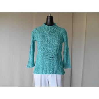 ブルー糸セーター