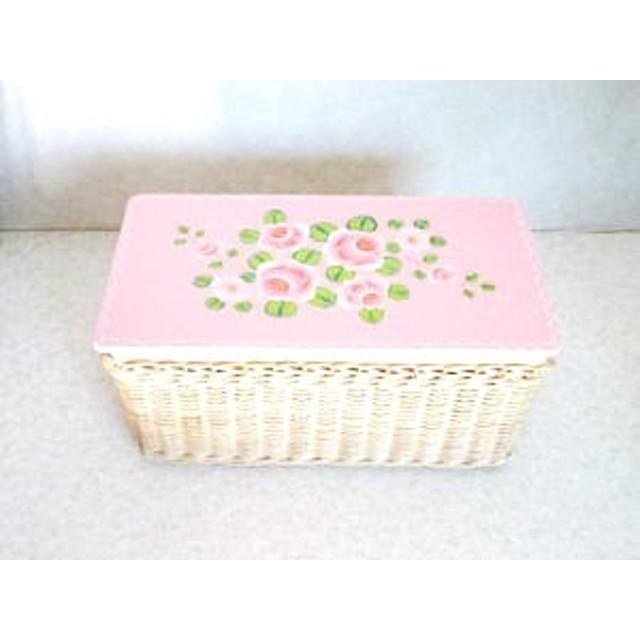 バラの編みカゴボックス A 再販