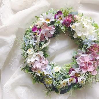 Flower March 春の草花リース