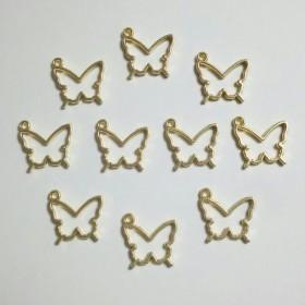 蝶々 レジン枠 チャーム 10個