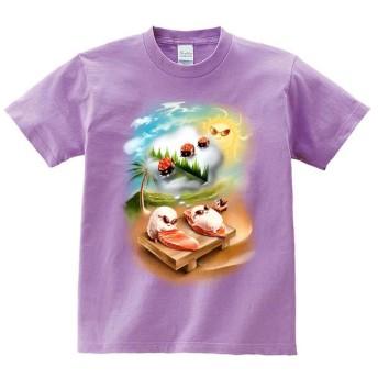 半袖Tシャツ 【日光浴を楽しむ寿司】 by FOX REPUBLIC