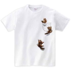 半袖Tシャツ 【ポケットで遊ぶリスたち】 by FOX REPUBLIC