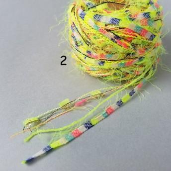 A34「クロッカスイエロー(2)」素材糸 引き揃え糸