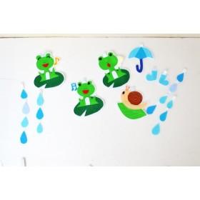 カエルの合唱♪雨の日ガーランド