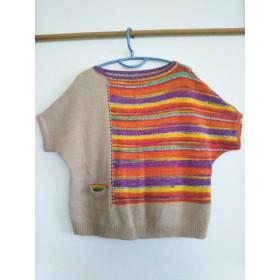 手編み五分袖セーター