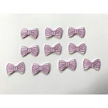 【訳あり商品】ボーダーワッペン(薄紫色) 10枚セット きらりぼん