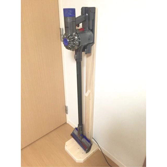 ダイソン用 コードレス掃除機 木製スタンド(V6等)