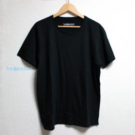 【受注生産】ループセンスオフィシャルTシャツ / 無地Tシャツ(ブラック)