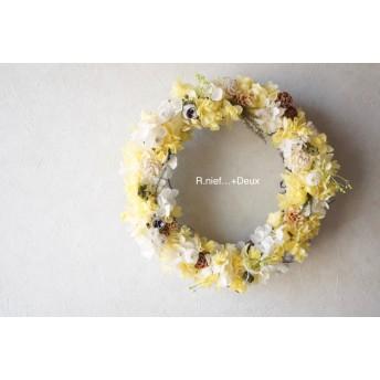 DRESS WREATH:黄色い花リース