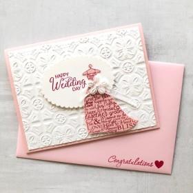 ドレスデザインの結婚お祝いカード