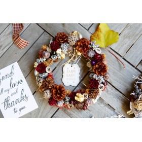 森の木の実のXmas wreath
