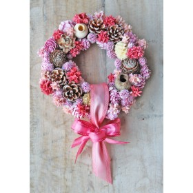 Spring wreath pink S