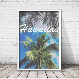 アートポスター323 Hawaiian☆ 額縁付き インテリアポスター