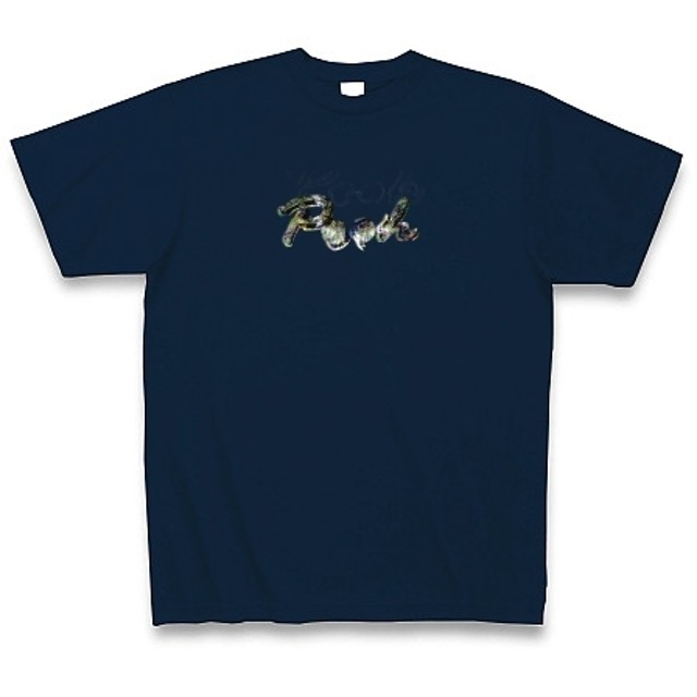 POOH◆アート文字◆ロゴ◆ヘビーウェイト◆半袖◆Tシャツ◆ネイビー◆各サイズ選択可