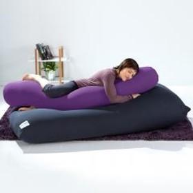 【10%OFF】Yogibo Roll Max(ロールマックス) - パープル ヨギボー ロール マックス 抱き枕 マタニティ ビーズクッション【1~3営業日で出荷予定】【受注生産品】【分納の場合あり】