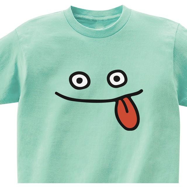 モンスターの顔(ベロ)【メロン】ekot Tシャツ 5.6オンスイラスト:タカ(笹川ラメ子)