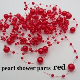 【pprr421sntn】【red】【110㎝×3本】パールシャワーパーツ