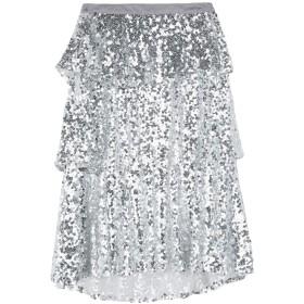 《セール開催中》SHE + SKY レディース 7分丈スカート シルバー L ポリエステル 100%