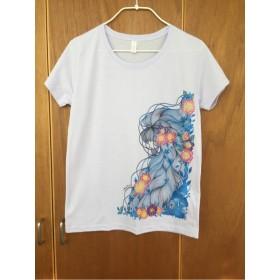 紅型風Tシャツ・ミルキーパープル【L】
