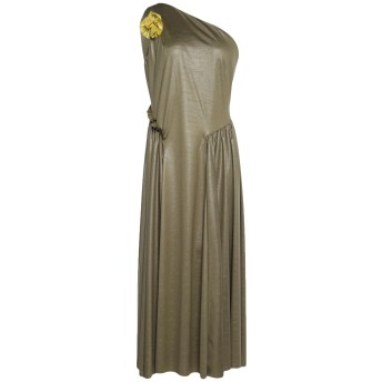 《セール開催中》SISTE' S レディース 7分丈ワンピース・ドレス ミリタリーグリーン XS ポリエステル 100%