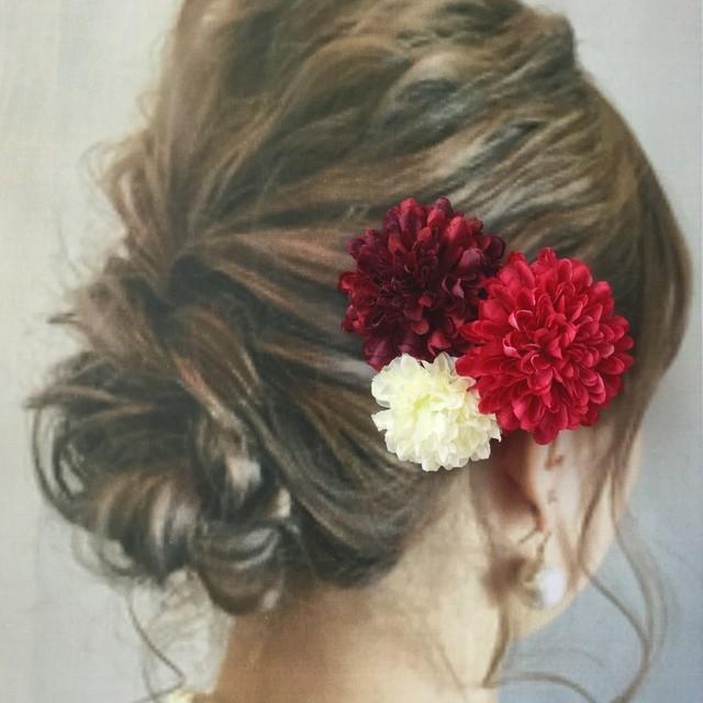 和*浴衣 お花の髪飾り