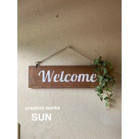 カントリー ルームサイン welcomeボード ブラウン