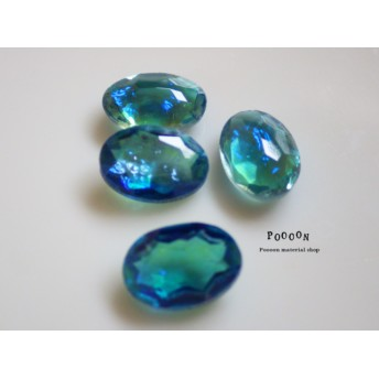 oval cabochon【carib blue】チェコ製 1個