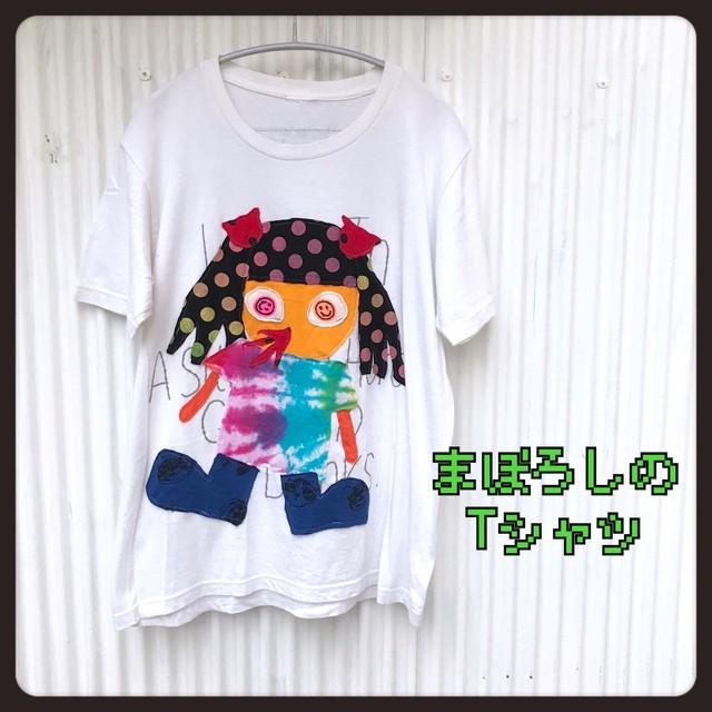 鼻血女子◆まぼろしの古着リメイクTシャツ