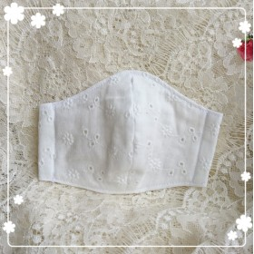 No.119低学年立体マスク☆レース刺繍