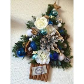 【再販×5】クリスマス 壁掛け 煌めくXmasツリー ブルー