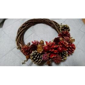 たわわな赤い木の実でクリスマスリース(2個以上送料無料)