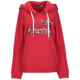 《セール開催中》LOVE MOSCHINO レディース スウェットシャツ レッド 38 コットン 100%