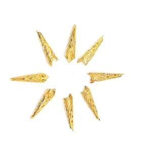 【8個】ロングタイプA ゴールド【透かし座金 ビーズキャップ】