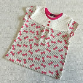 size100☆ヨークTシャツ(リボン)