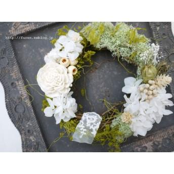 <再販×2>garden wreath (white)