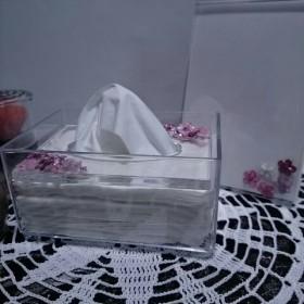 小花のポケットティッシュケース&フォトフレーム ピンク